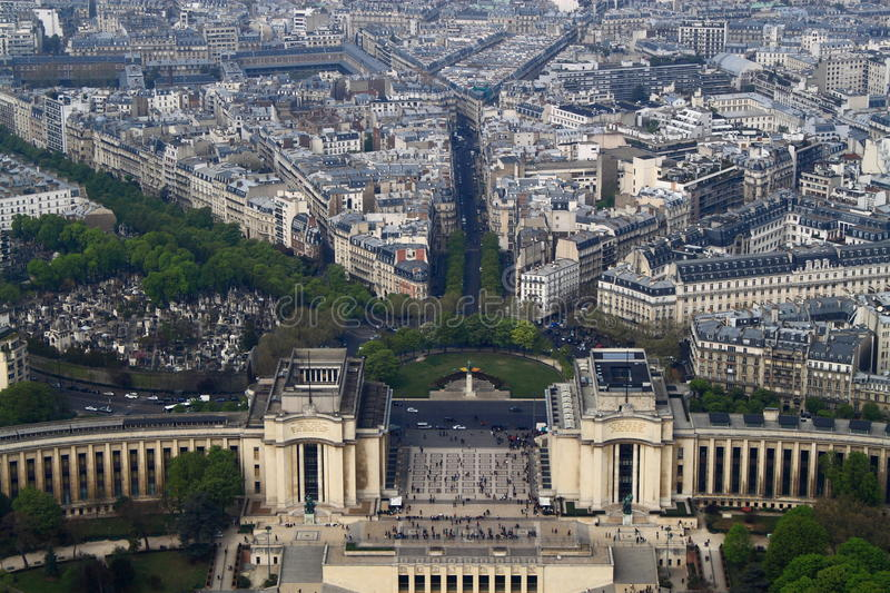Download Aerial View of Paris editorial stock image. Image of busy - 24430679
