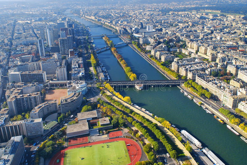 Aerial view of Paris royalty free stock image
