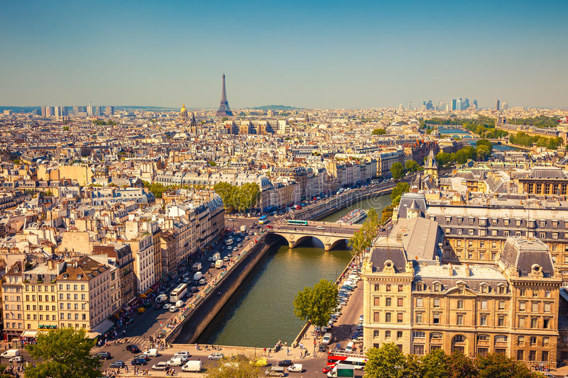 Download Aerial view of Paris stock image. Image of district, paris - 35858551