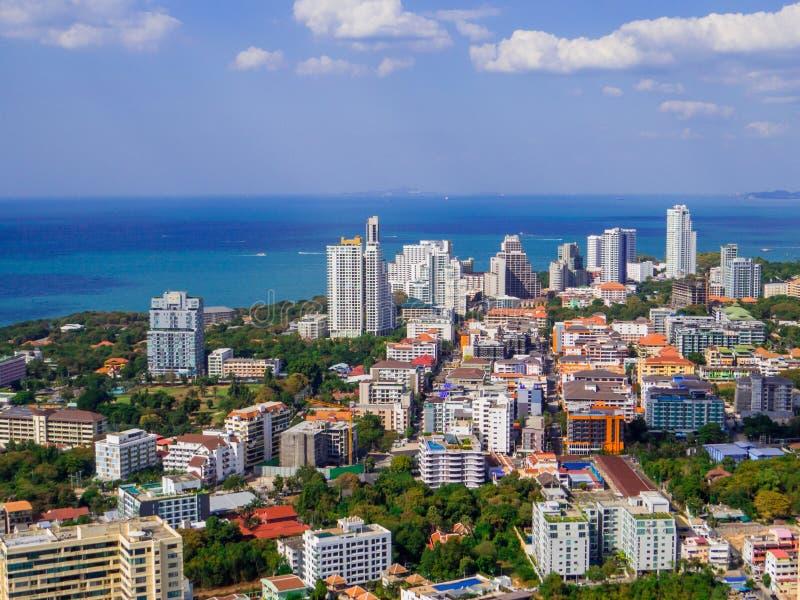 Pattaya, Thailand. Aerial view of Pattaya, Thailand stock photography