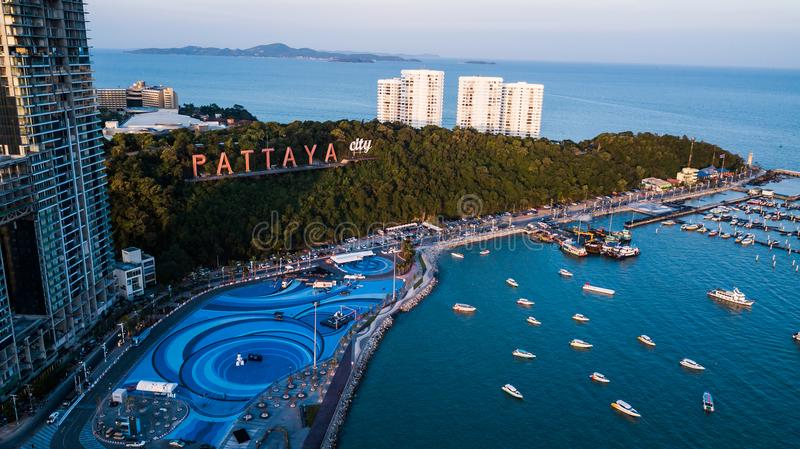 Aerial view of Pattaya , Thailand.  stock images