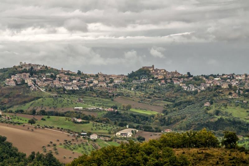 Aerial view of Penne, Pescara, Abruzzo, Italy, Europe royalty free stock photos