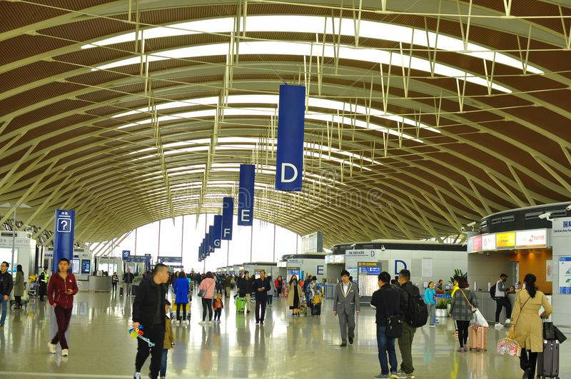 Area of Terminal Two of Pudong International Airport Shanghai royalty free stock photo