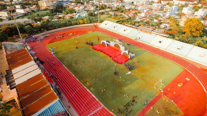 Aerial View Photo of Stadium royalty free stock image