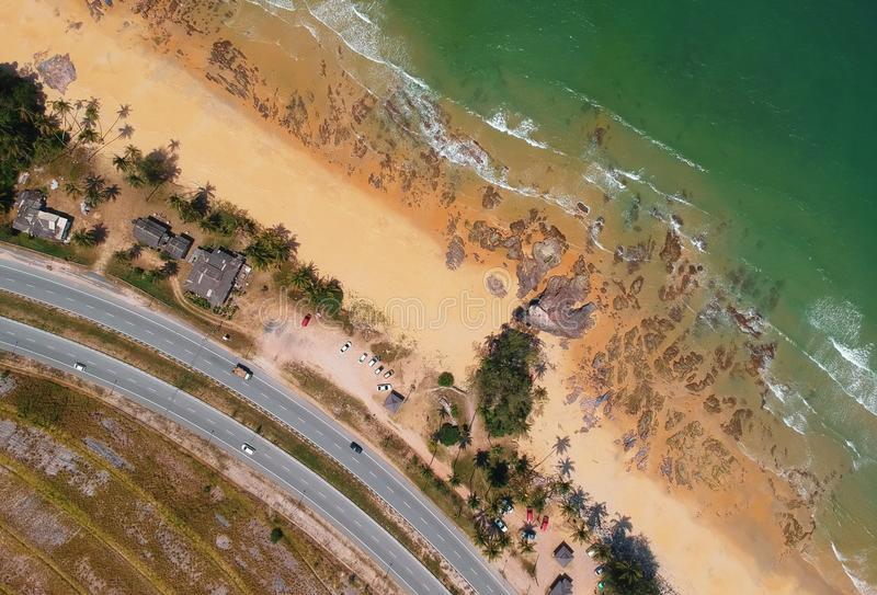 Aerial View Photography of Beach royalty free stock photos