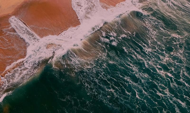 Aerial View Photography of Beach stock image