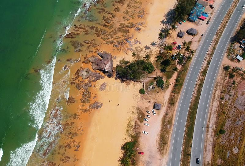 Aerial View Photography of Shore stock photo