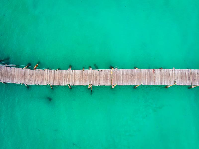 Aerial view of pier royalty free stock images