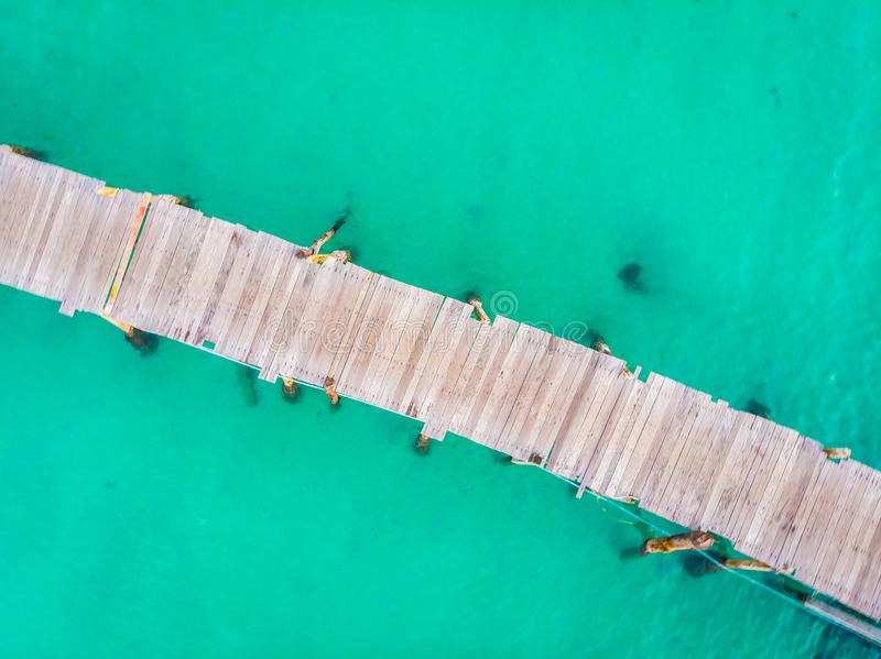Aerial view of pier stock images