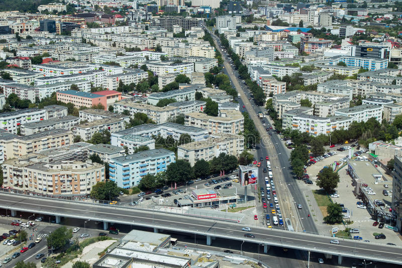 Aerial view at Pipera passage. Mayor Oprescu said Tuesday after visiting the site of Pipera passage, that in a few days will be open to traffic, currently being stock photography