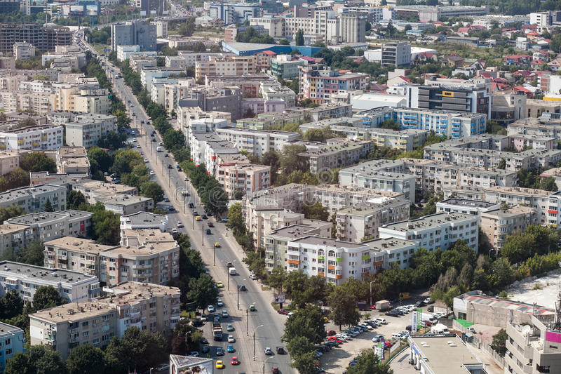 Aerial view at Pipera passage. Mayor Oprescu said Tuesday after visiting the site of Pipera passage, that in a few days will be open to traffic, currently being royalty free stock photos