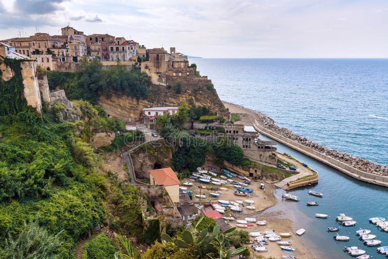 Aerial view of Pizzo town in Calabria royalty free stock photo