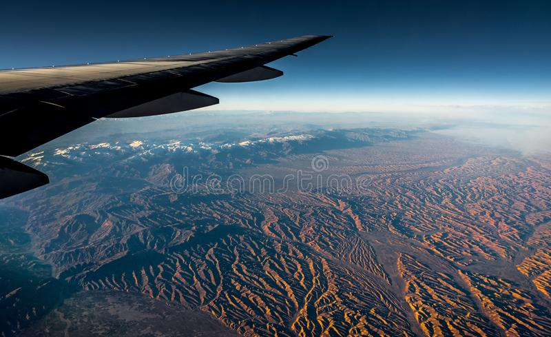 Aerial View from the Plane stock image