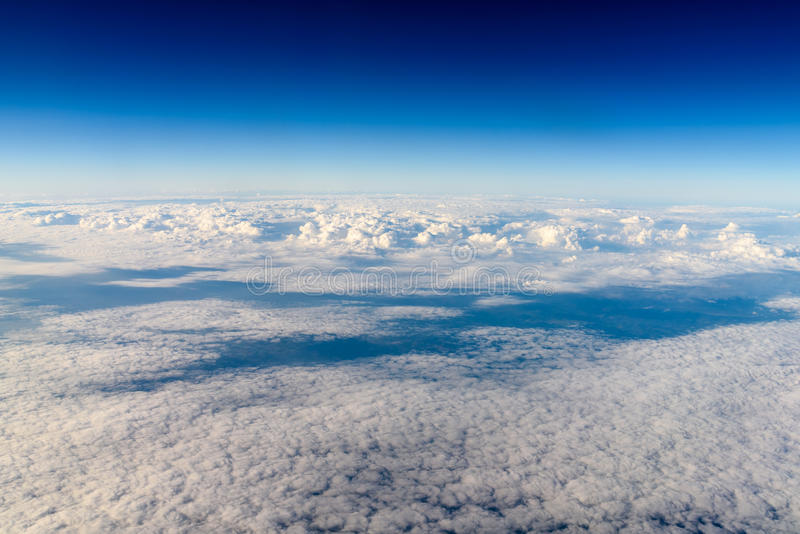 Aerial View Of Planet Earth As Seen From 40.000 Feet royalty free stock photos