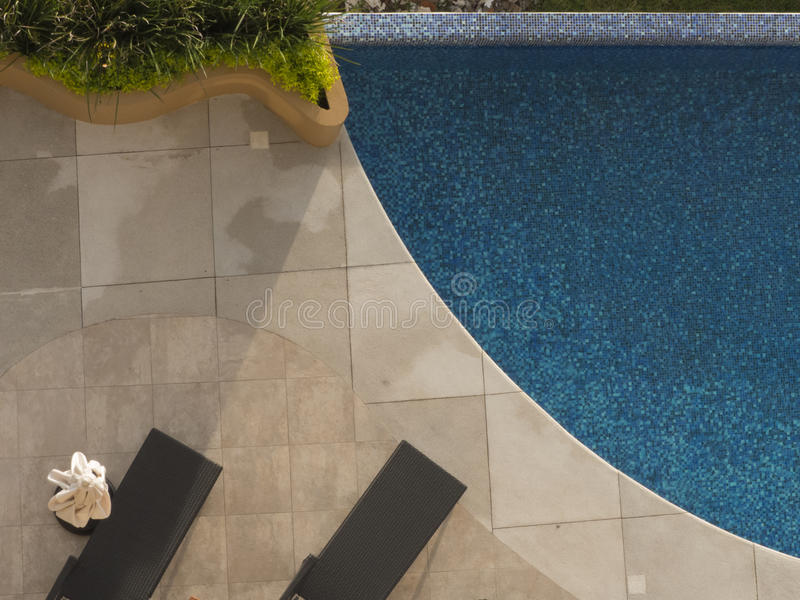 Aerial view of pool royalty free stock photography