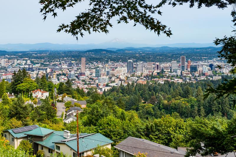 Aerial view of Portland royalty free stock image