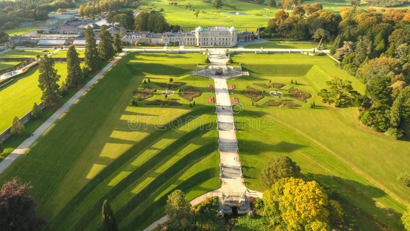 Aerial View. Powerscourt Gardens. Wicklow. Ireland Stock Photo ...