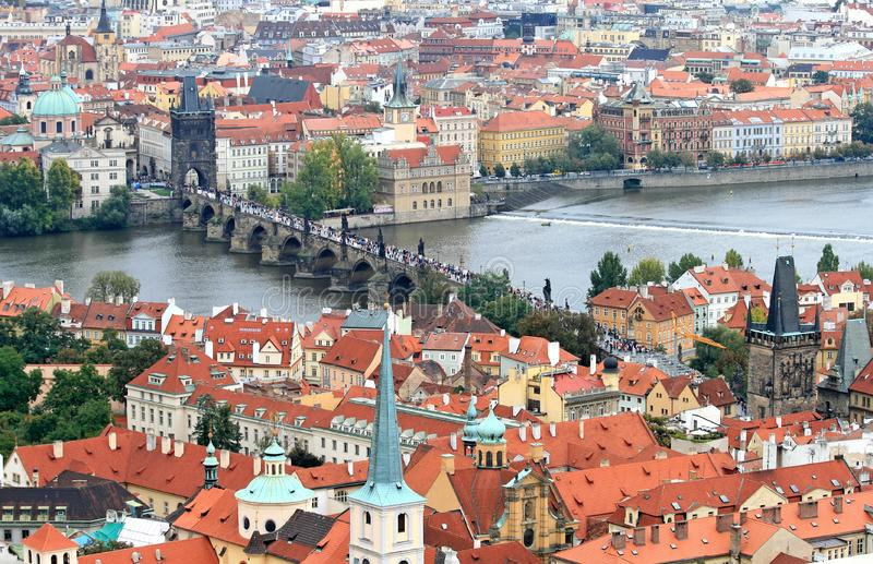 The Aerial View Of Prague Free Stock Photography