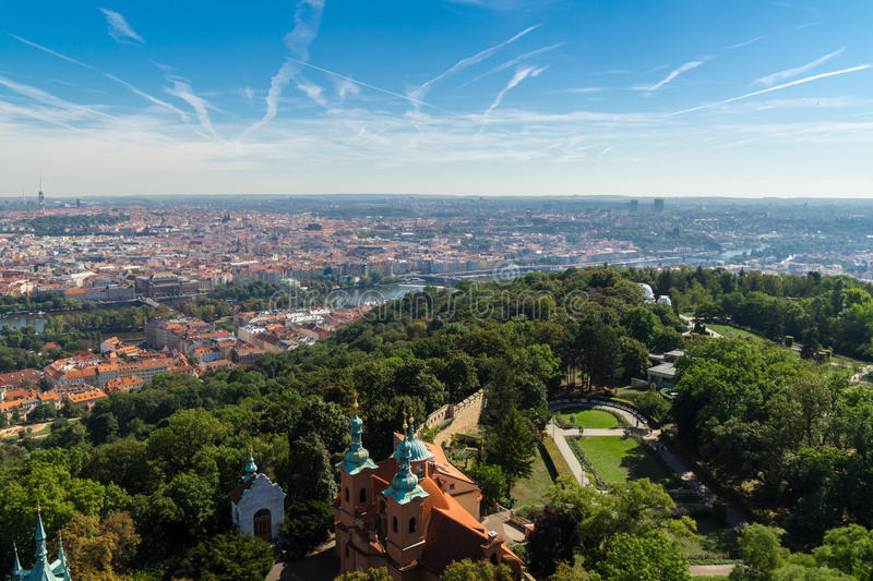 The Aerial View Of Prague royalty free stock photo
