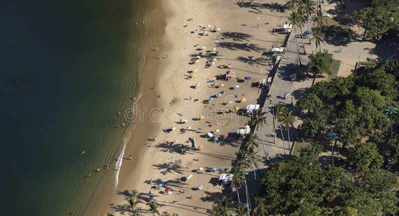 Aerial View of Praia Vermelha, Rio de Janeiro royalty free stock photos