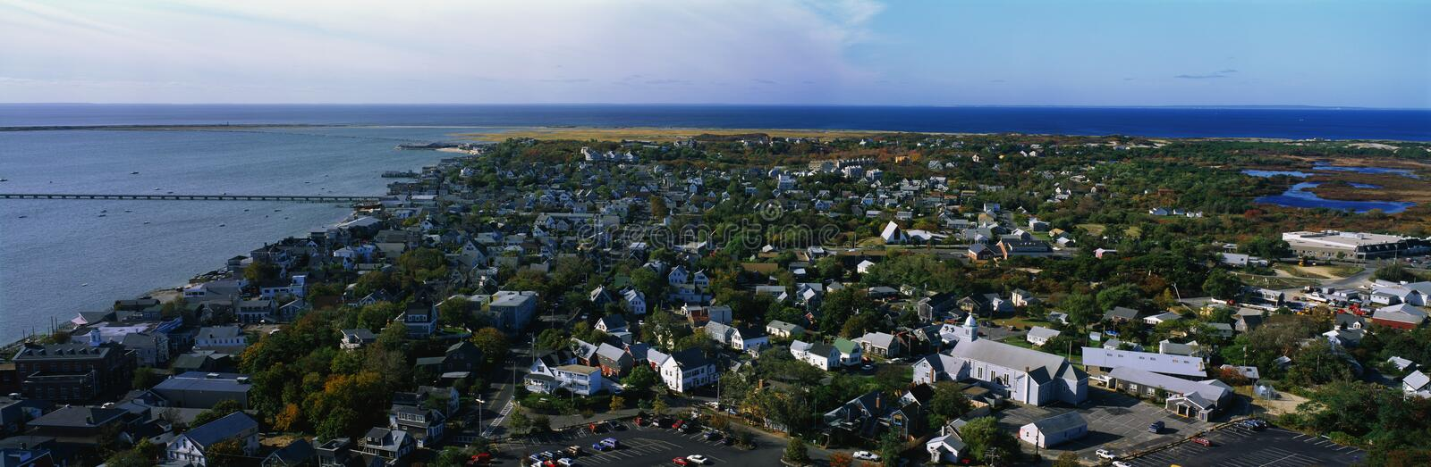 Download Aerial View Of Provincetown And Cape Cod, MA Stock Image - Image: 23151561