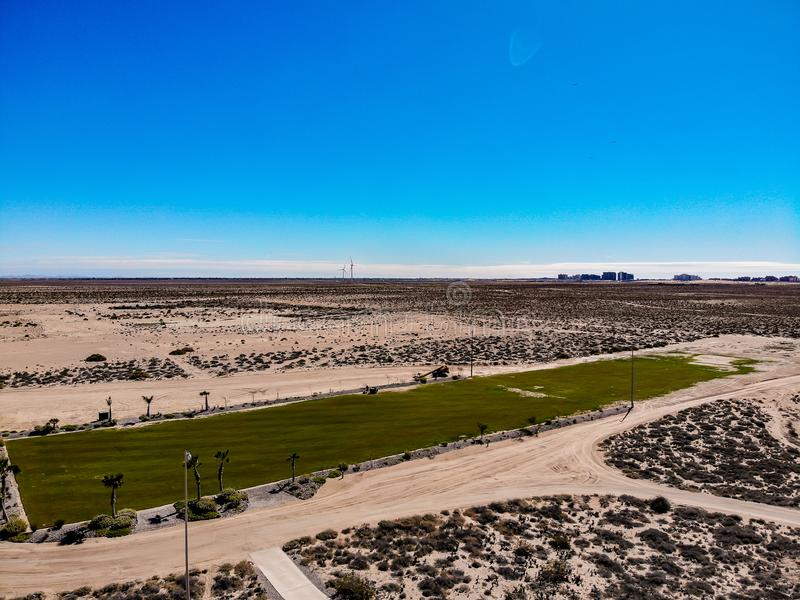 Aerial View Of Puerto Penasco Rocky Point From Cholla Bay royalty free stock photography