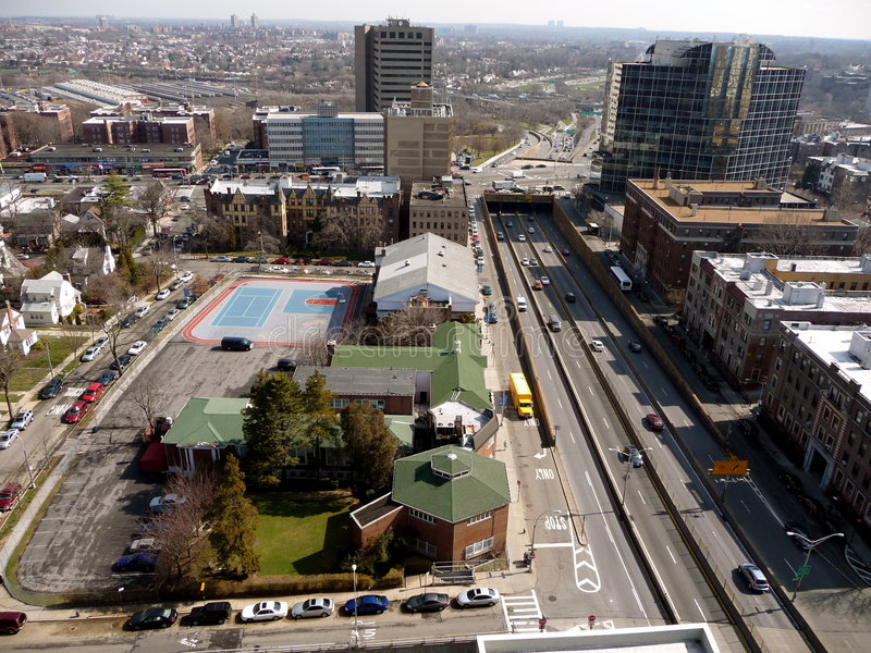 Aerial View Of Queens Royalty Free Stock Photos