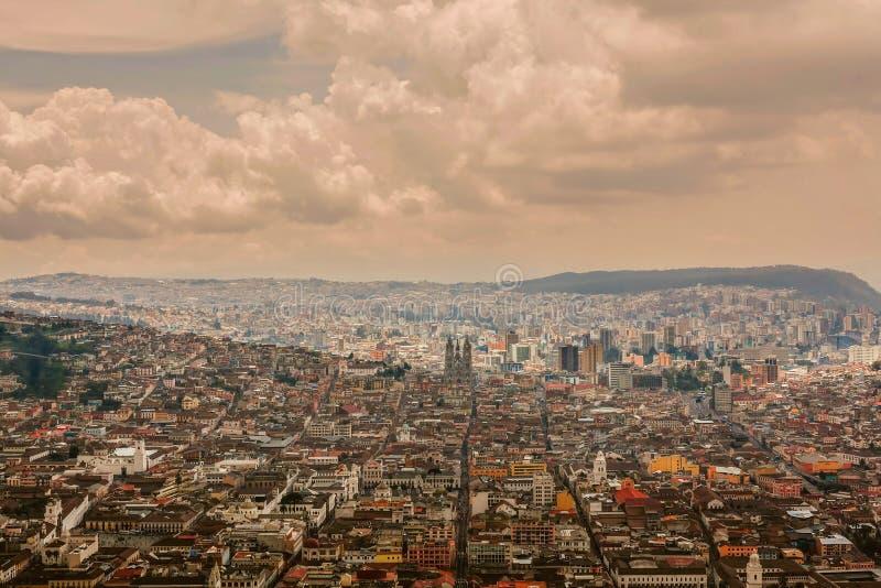 Aerial View Of Quito Capital Of Ecuador Stock Image Image Of - Capital of ecuador