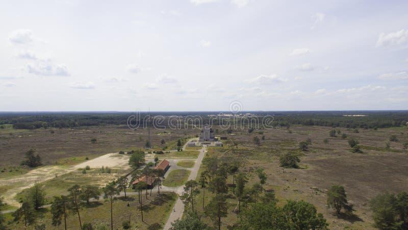 Aerial view on Radio Kootwijk stock photos