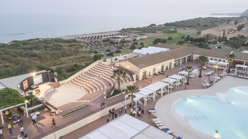 Aerial View of a Resort 5 royalty free stock images