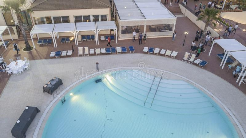 Aerial View of a Resort 3 royalty free stock photography
