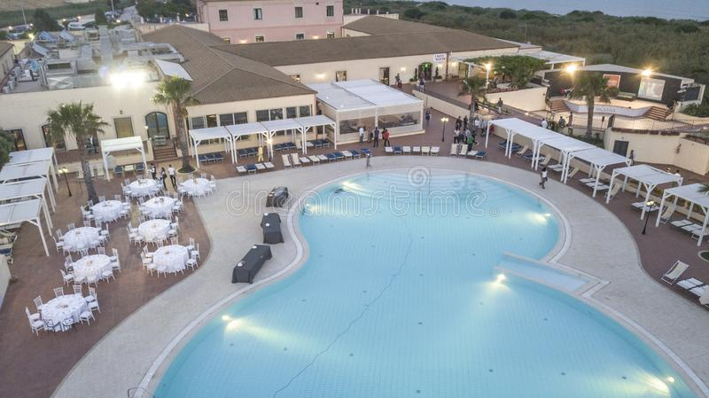 Aerial View of a Resort 2 stock image