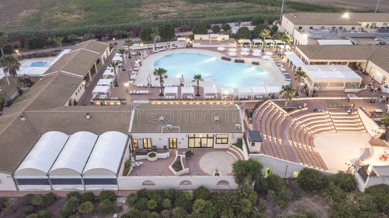 Aerial View of a Resort 8 stock photography