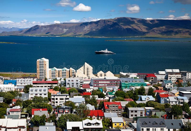 Aerial View Of Reykjavik, Capital Of Iceland Royalty Free Stock Photography