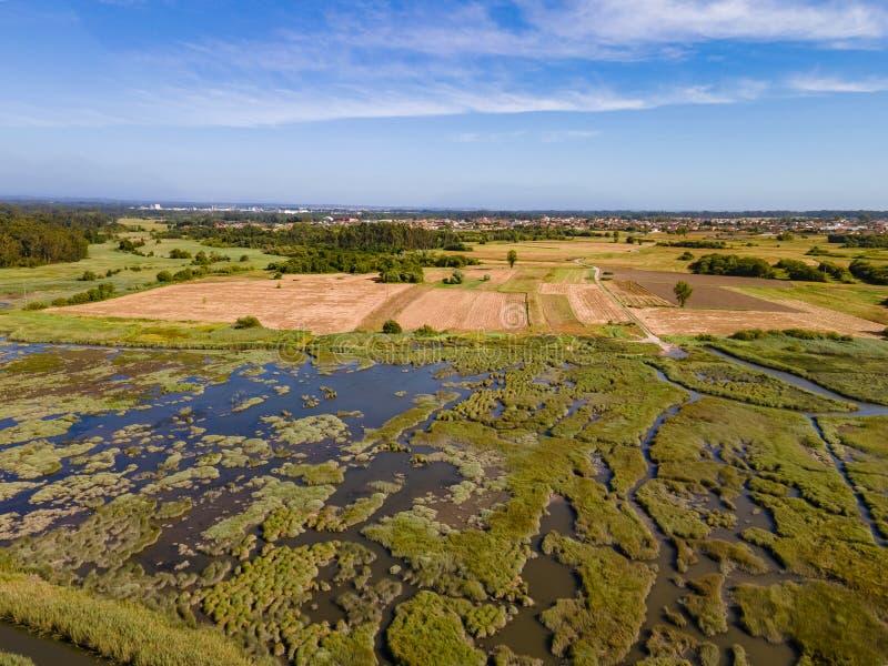 Aerial View of Ribeira do Mourao royalty free stock photo