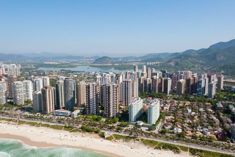 Aerial view of Rio De Janeiro, Brazil royalty free stock photography