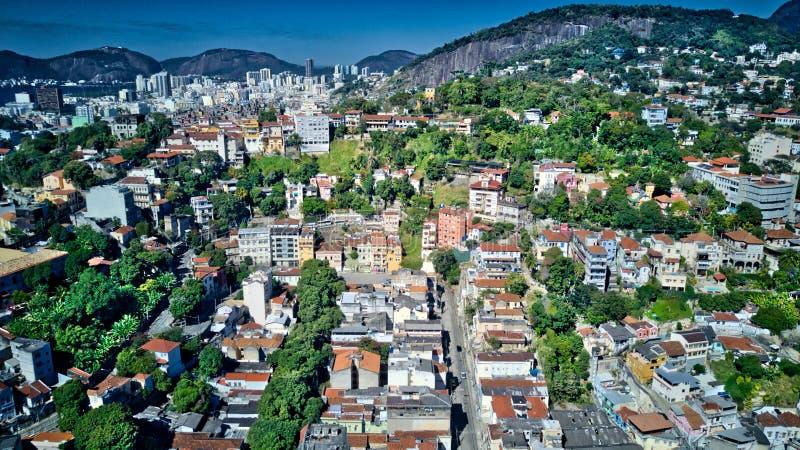 Aerial View of Rio de Janeiro City and Mountains royalty free stock photos