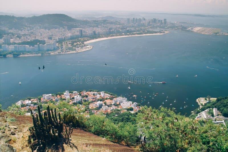 Aerial view of Rio de Janeiro, Brazil stock image