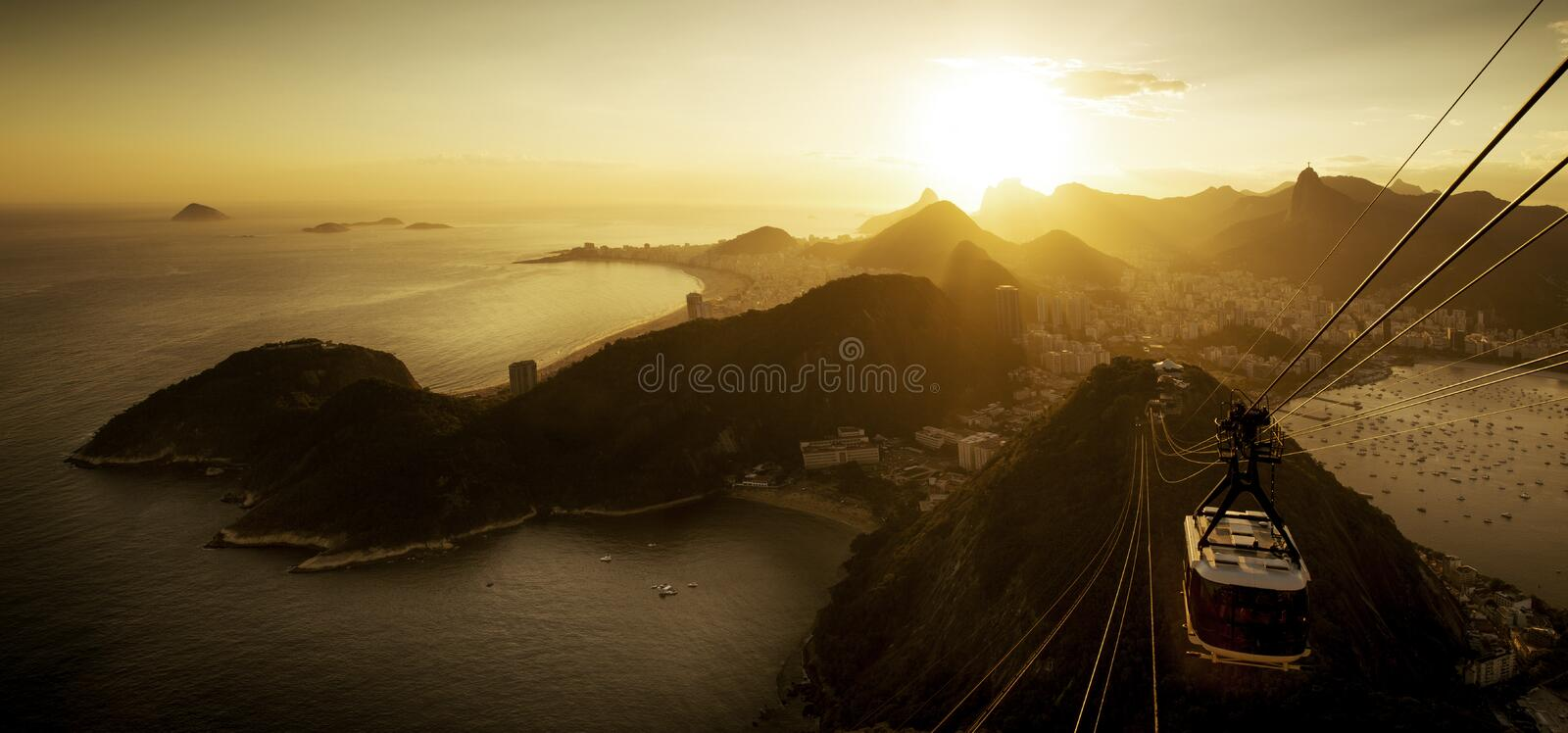 Aerial View of Rio de Janeiro from the Sugarloaf Mountain stock image