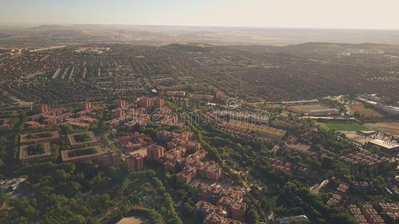 Aerial view of Rivas-Vaciamadrid, a city in the Community of Madrid, Spain. Aerial view of Rivas-Vaciamadrid, a city in the Community of Madrid royalty free stock photo