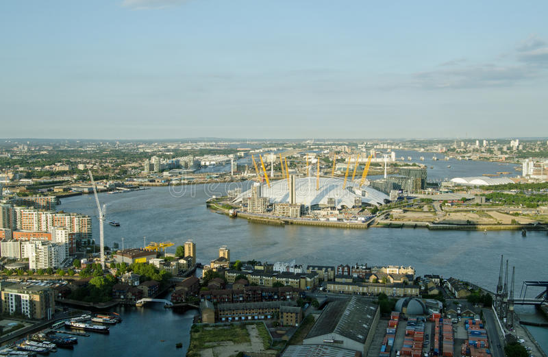 Download Aerial View Of River Thames At Greenwich Editorial Photo - Image: 43663901