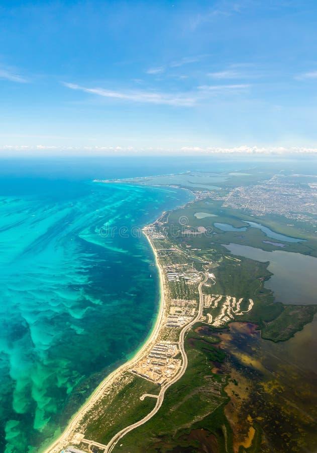 Aerial view Riviera Maya Cancun Mexico - image. Aerial view Riviera Maya Cancun Mexico stock photo