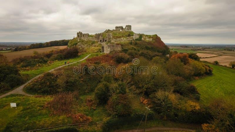 Aerial view. Rock of Dunamase. Portlaoise. Ireland royalty free stock photos