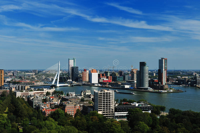 Aerial view of Rotterdam stock image