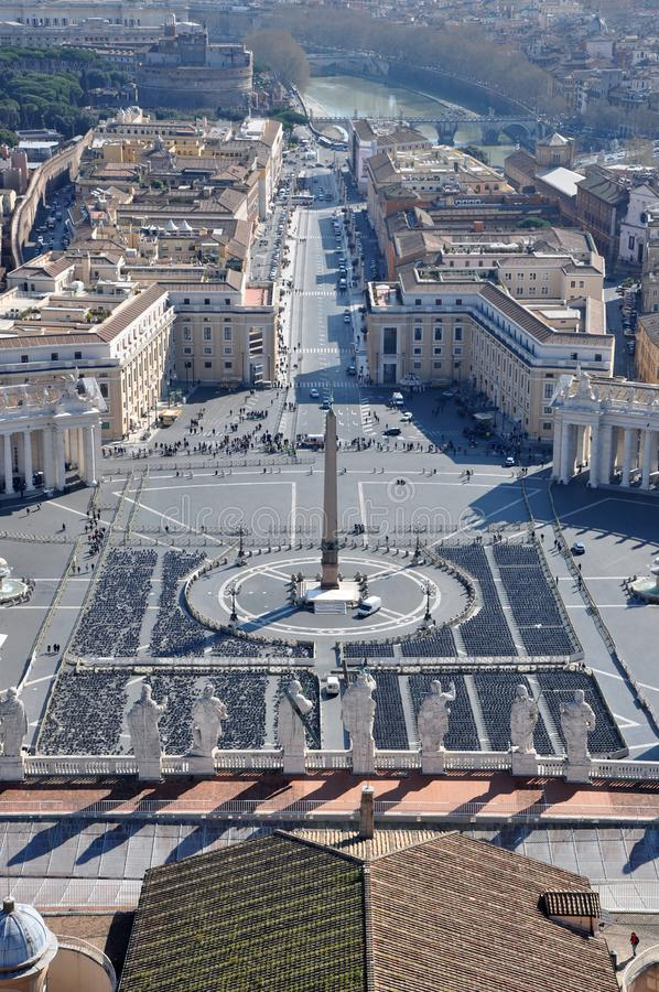 Aerial View Of The Saint Peter`s Square In Vatican City