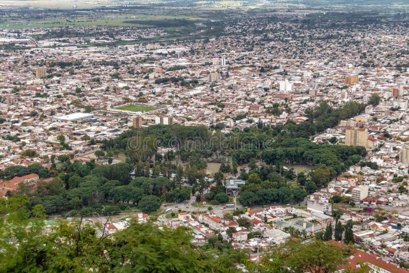 Aerial view of Salta City - Salta, Argentina. Aerial view of Salta City in Salta, Argentina royalty free stock image