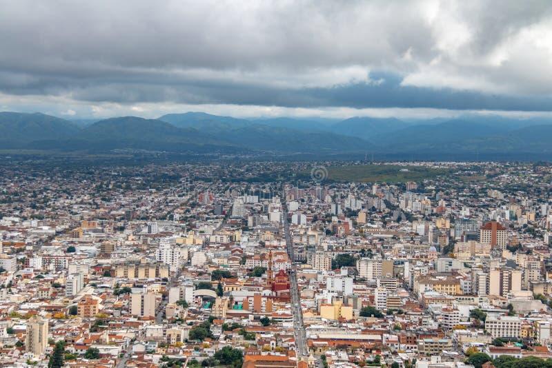 Aerial view of Salta City - Salta, Argentina. Aerial view of Salta City in Salta, Argentina stock images