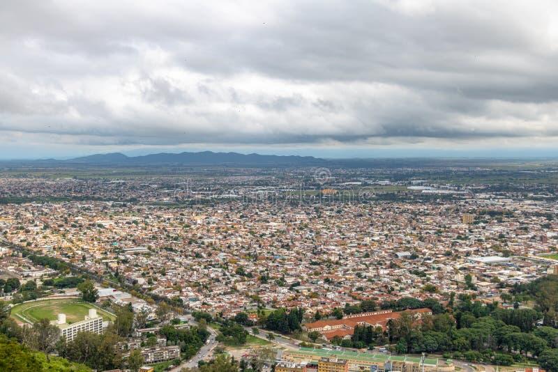 Aerial view of Salta City - Salta, Argentina. Aerial view of Salta City in Salta, Argentina royalty free stock photo