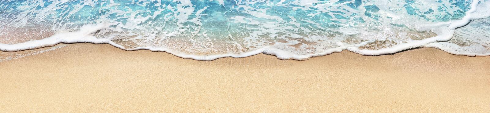 Aerial View Of Sandy Beach And Ocean royalty free stock photography