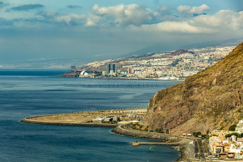 Aerial view of Santa Cruz de Tenerife. Canary islands, Spain.  royalty free stock photography